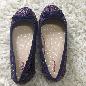 cat and jack Shoes - Girls Cat and Jack Sparkle flats
